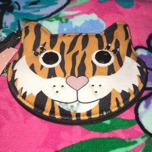 NWT Fuzzy Tiger 🐯 Coin Purse / Wristlet